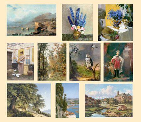знакомство с видами живописи
